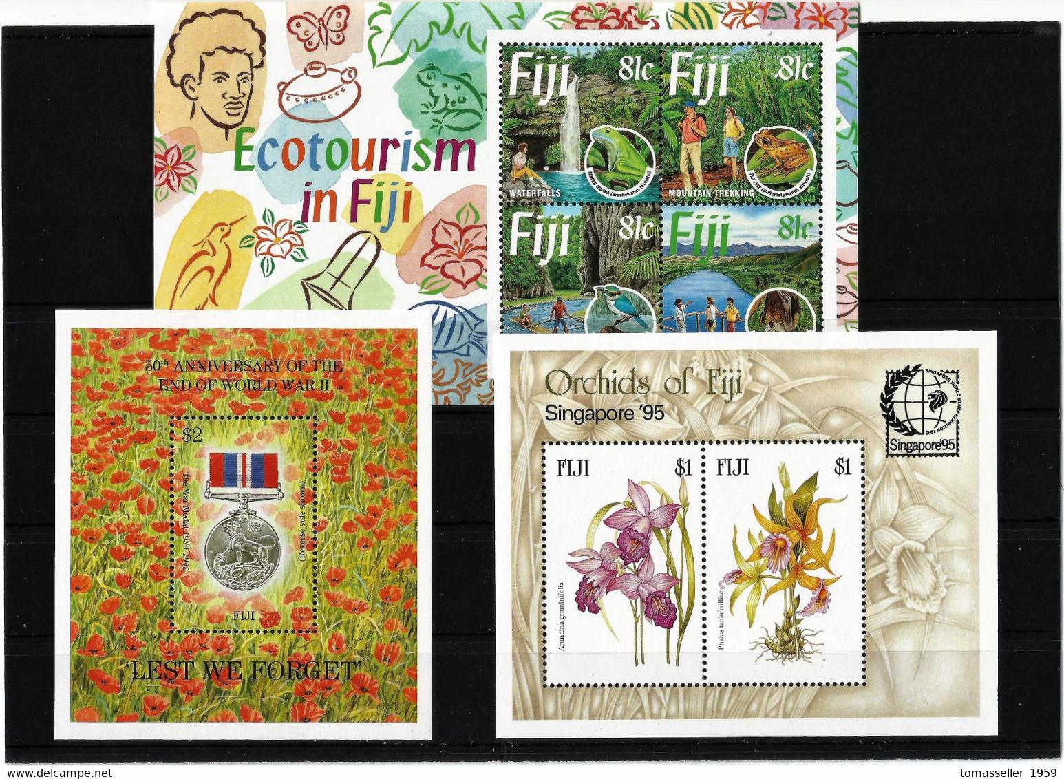 FIDJI - 1994 -95-96-97-98-99-00-01-02-03-04-05-06--07  YEAR SETS . Totaly 378 Stamps+ 49 Block + 2 Min.sheets - Fiji (1970-...)