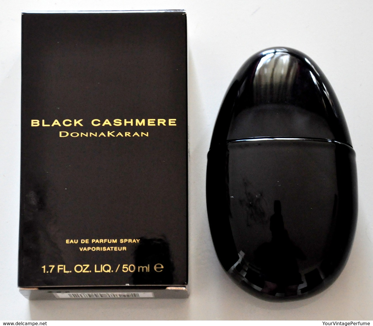 Donna Karan Black Cashmere Eau De Parfum Edp Spray 50ML Fl. Oz. 1.7 Perfume Woman Rare Vintage Old 2002 - Fragrances (new And Unused)