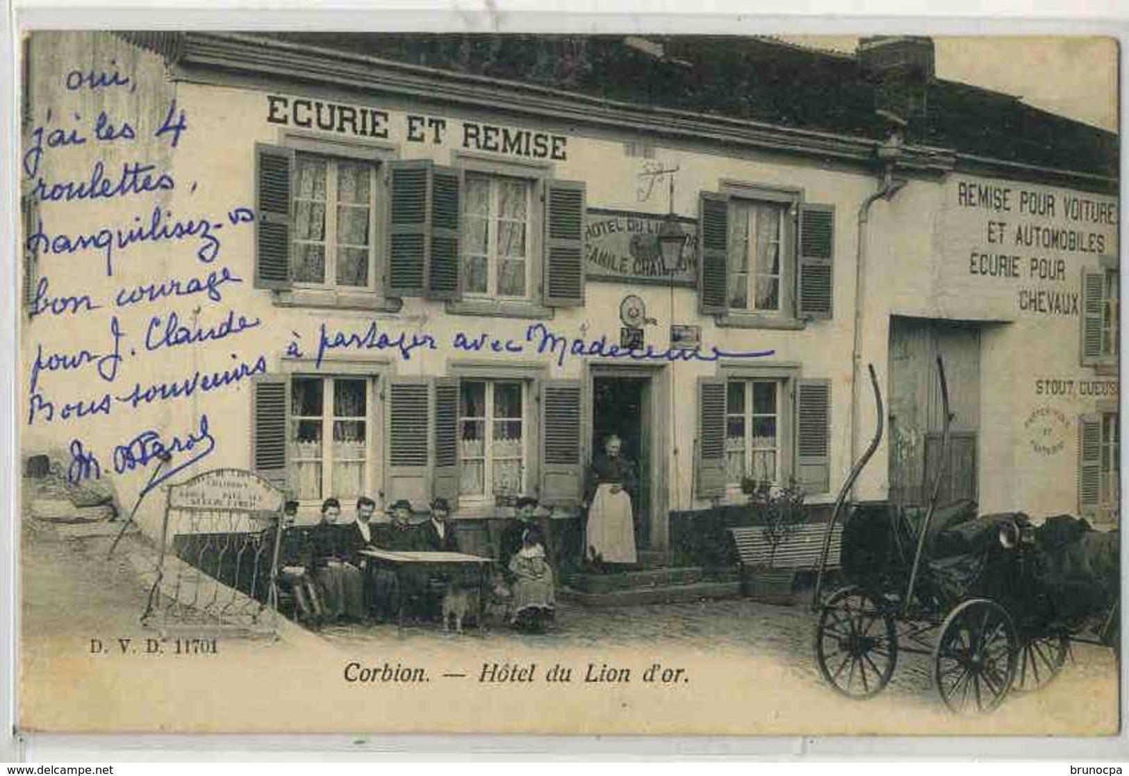 CORBION  Hotel Du Lion D'or, Beau Plan Animé - France