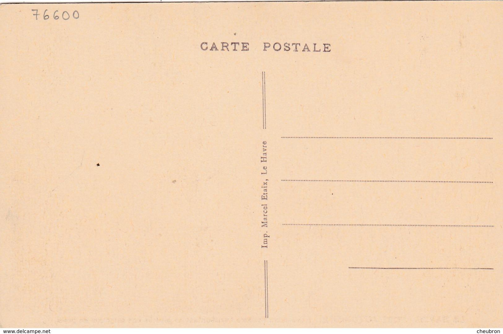76. LE HAVRE. CPA SEPIA. PORT AUTONOME. ASPIRATEURS FLOTTANTS TRANSBORDANT EN PENICHE UNE CARGAISON DE GRAIN.ANNÉE 30 - Le Havre