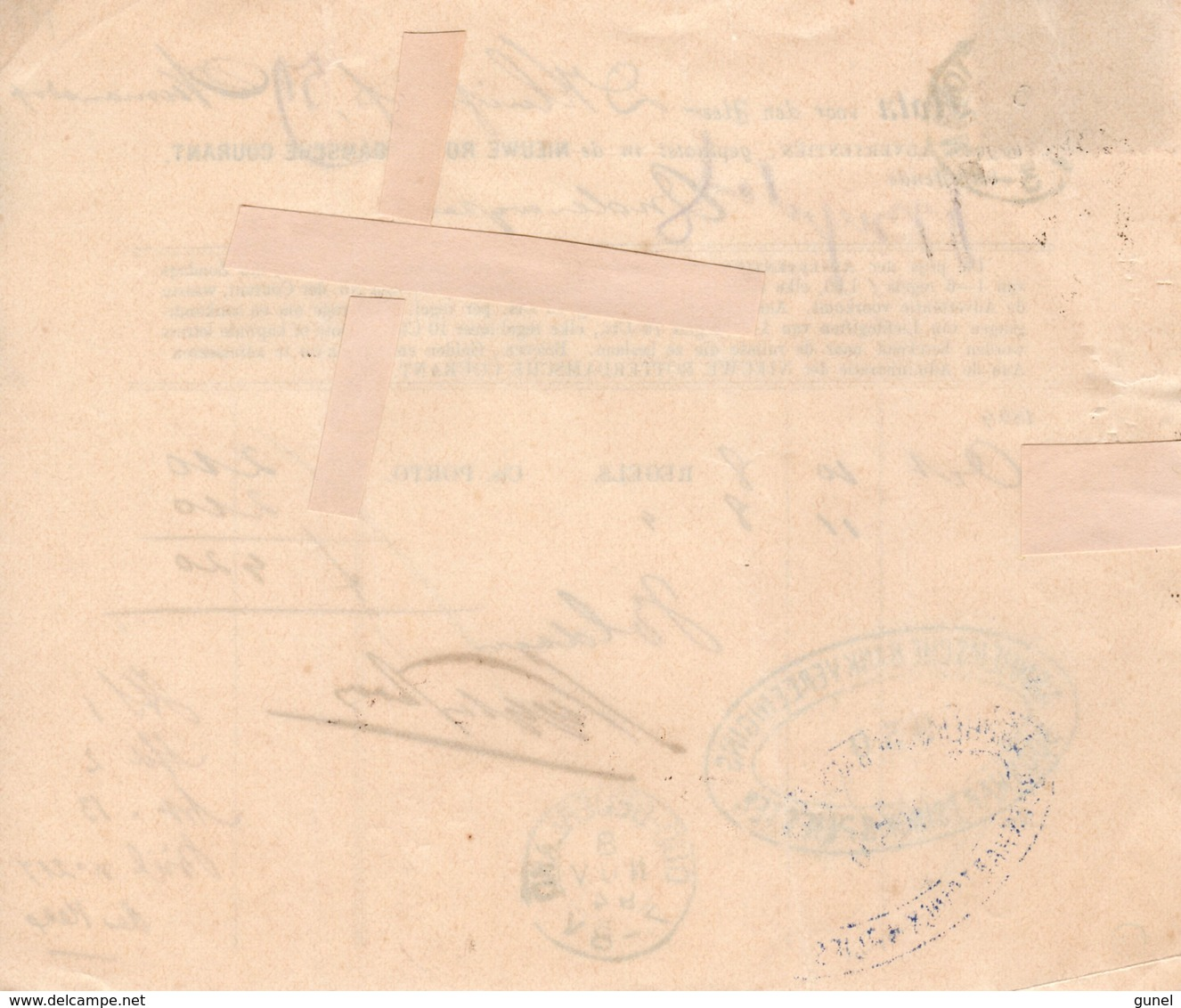 6/8 NOV 94 Kwitantie Met Kleinrond ARNHEM-STATION Naar OUD-BEIJERLAND Met NVPH35 - Periode 1891-1948 (Wilhelmina)