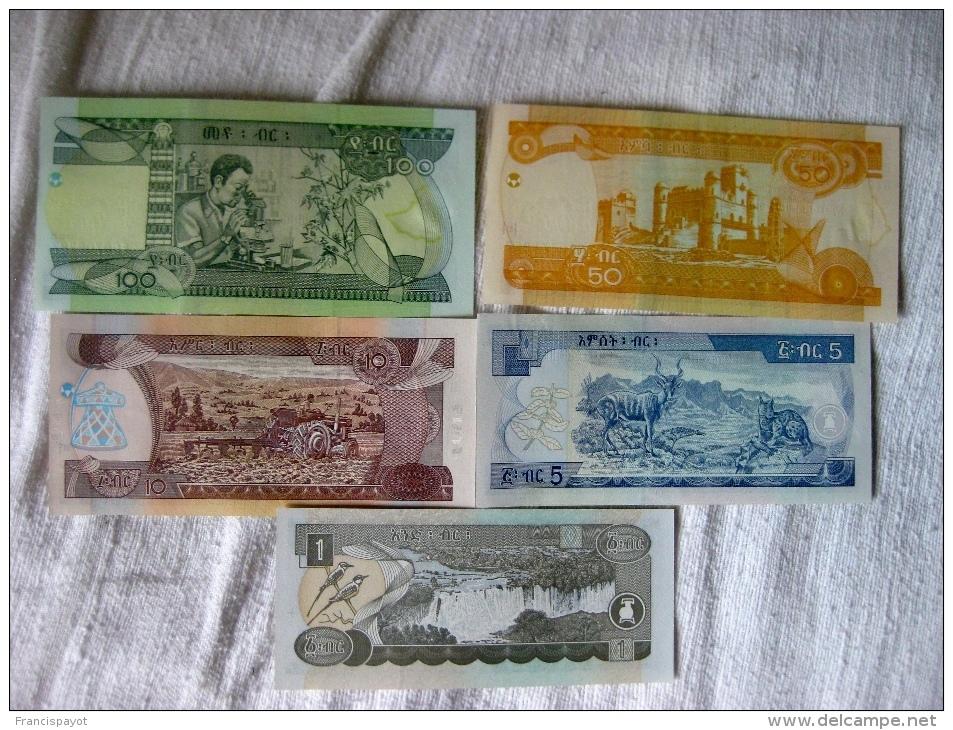 Set 2000-2015, Birr 100 - 50 - 10 - 5 - 1 - Ethiopie