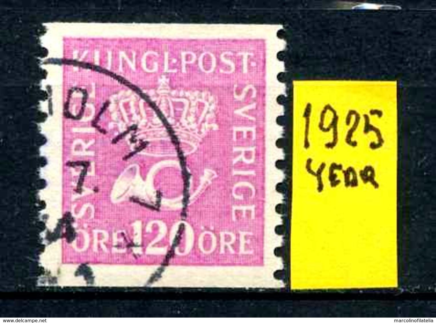SVEZIA - SVERIGE - Year 1925 - Usato - Used - Utilisè - Gebraucht. - Usati