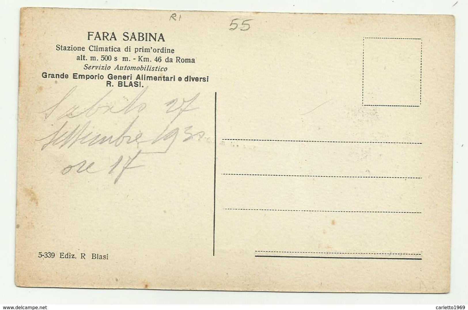FARA SABINA - VEDUTE - NV FP - Rieti