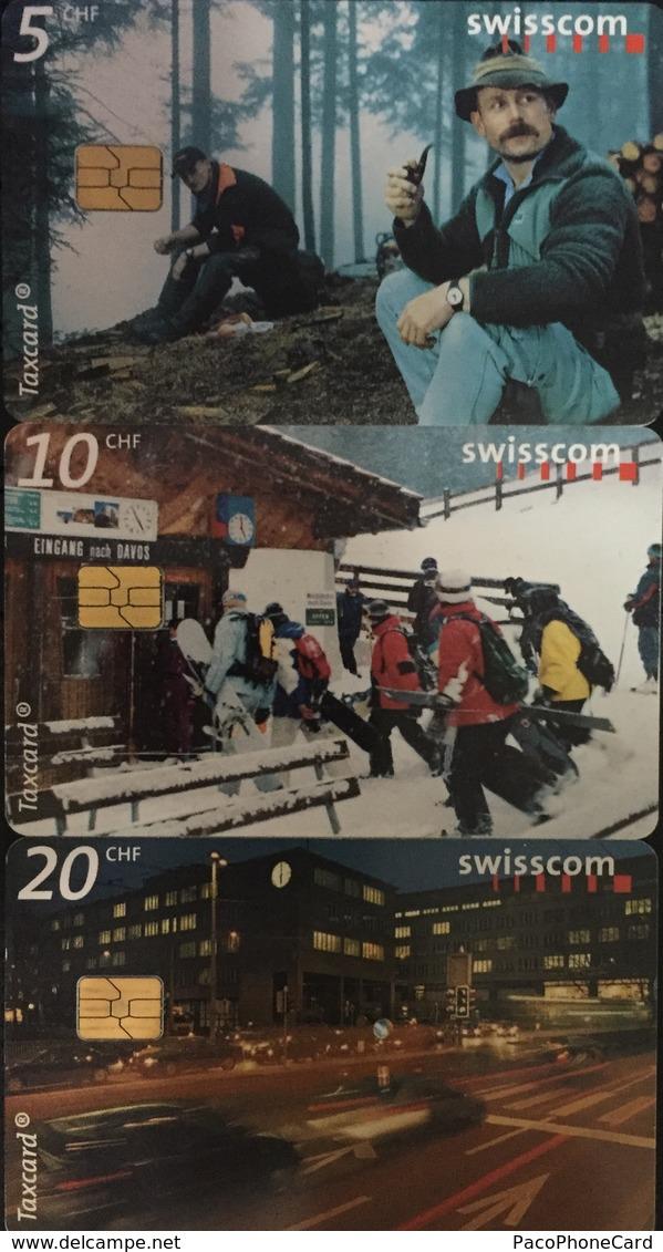 Paco \ SVIZZERA \ SUI-CP 82 83b 84 \ Puzzle Tris - Moments In Time \ Usata - Svizzera
