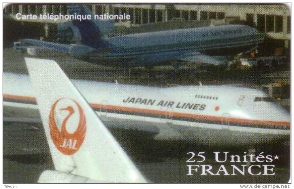 FRANCE PREPAID JAPAN AIR LINES JAL 25U NEUVE MINT RARE - Avions