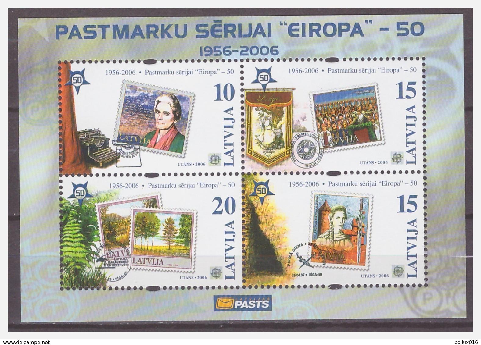 0923 Latvia 2006 50 Year Europe Europa CEPT S/S MNH - 2006