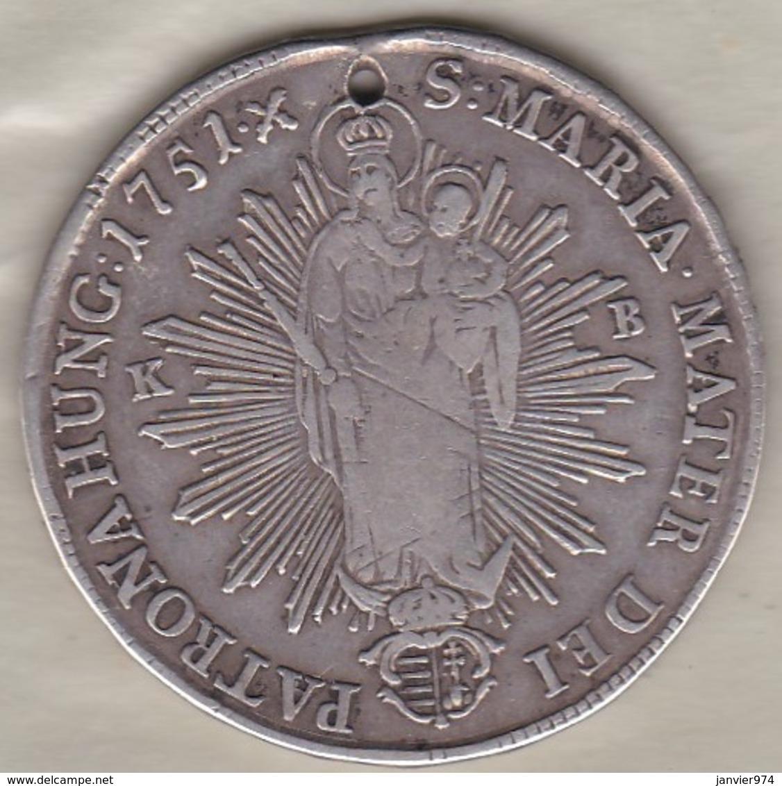 Hungary  1 Thaler 1751 •X•, Maria Theresia ,  En Argent , KM# 358.1 - Hongrie