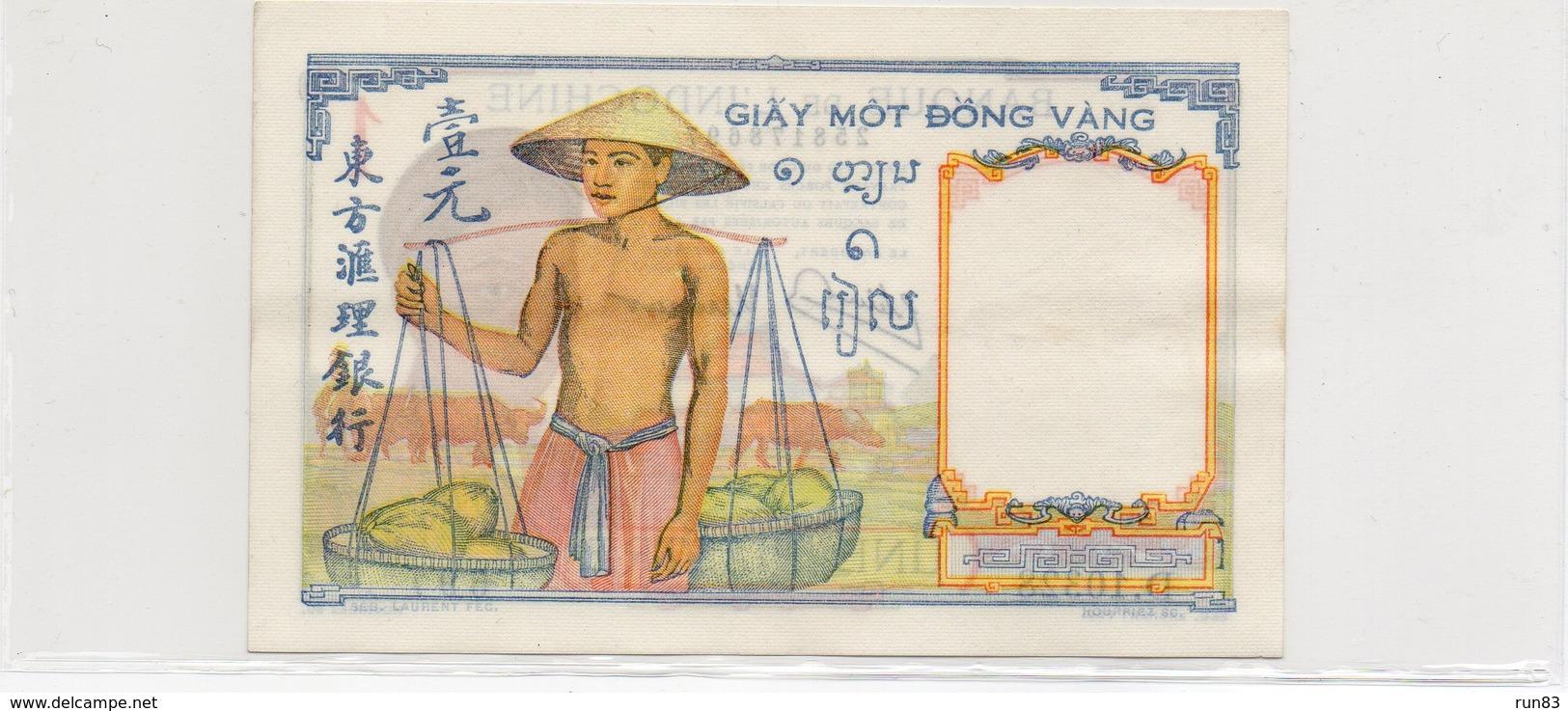 INDOCHINE / Superbe Billet De 1932 / 39 UNC N° 54 De Paper Money Cote + De 120.00 Euros - Indochine