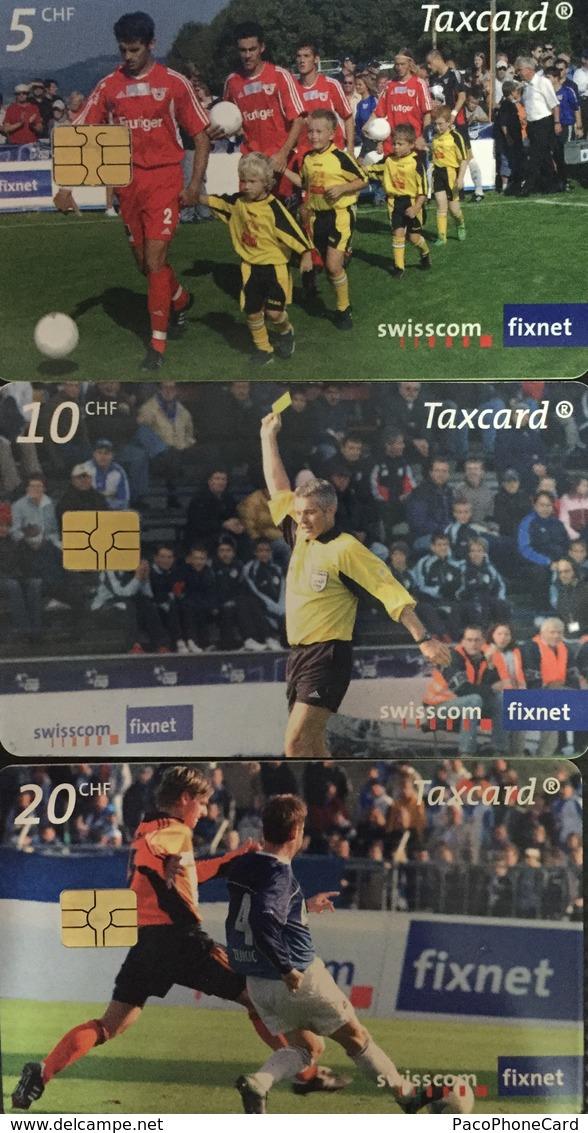Paco \ SVIZZERA \ SUI-CP 148b 149c 150c \ Puzzle Tris - Swisscom Cup \ Usate - Svizzera