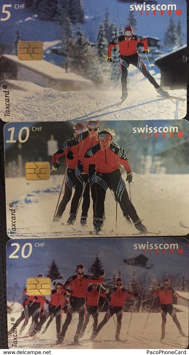 Paco \ SVIZZERA \ SUI-CP 91 92 93 \ Puzzle Tris - Nordic Experience \ Usate - Svizzera