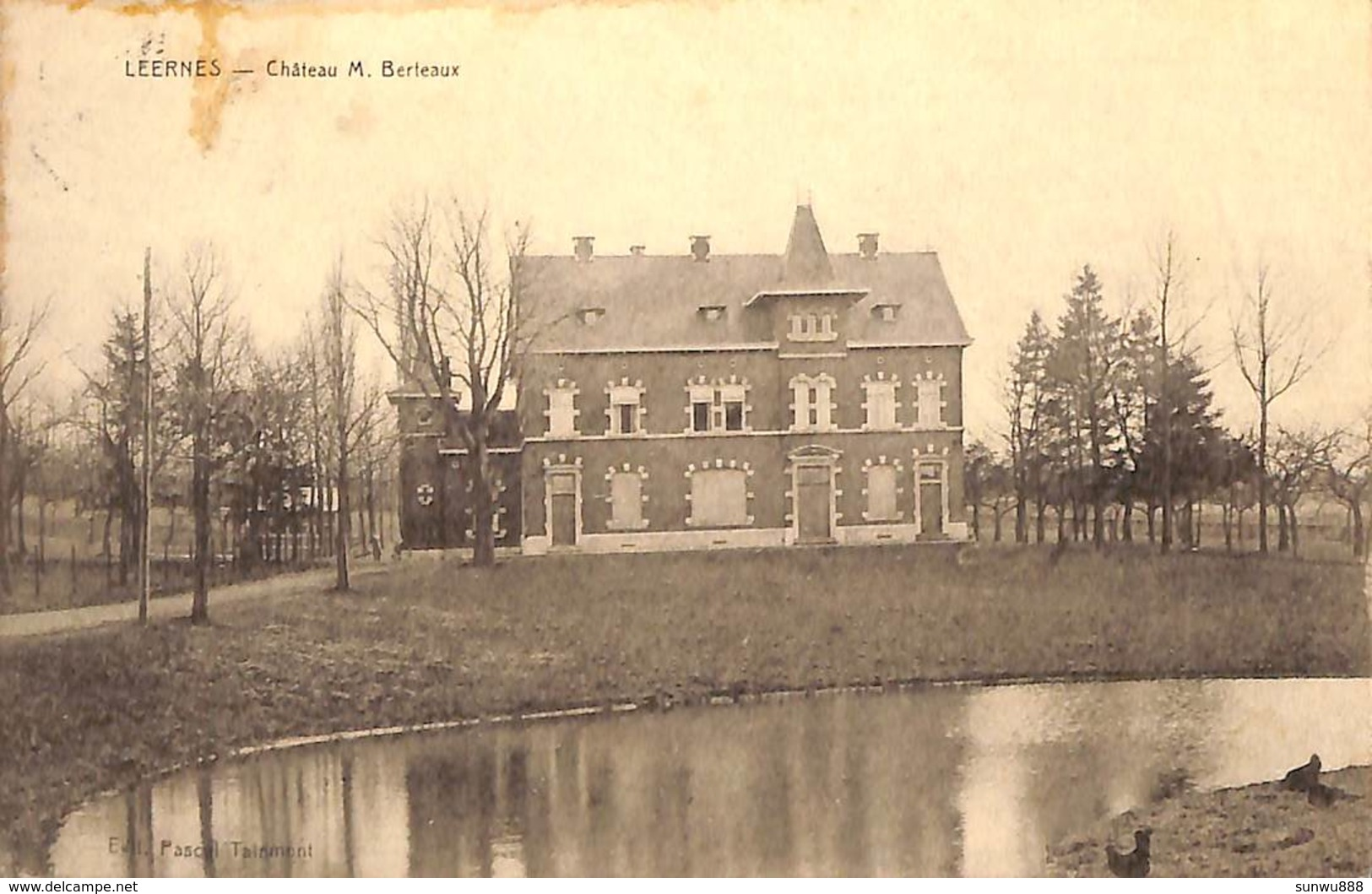Leernes - Château M. Berteaux (Edit. Pascal Tainmont, Phototypie Desaix 1935) - Fontaine-l'Evêque