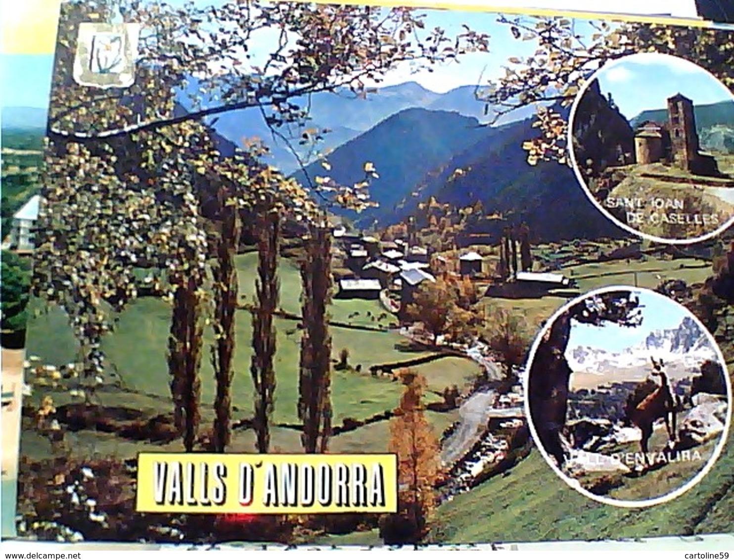 VAL D'ANDORRA VUES STAMP TIMBRE SELO  ESPANA  8 P  S Juan De La PENA GX5698 - Andorra