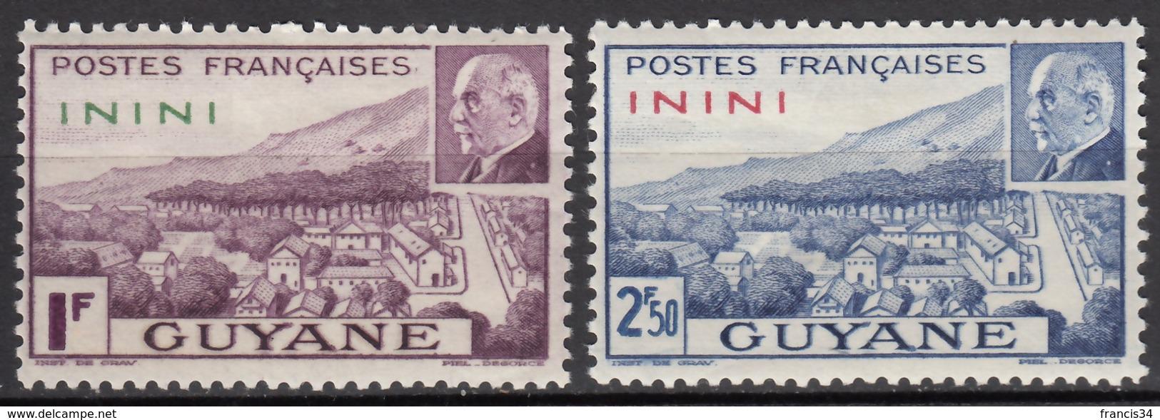 N° 51 Et N° 52 - X - ( C1635 ) - Inini (1932-1947)