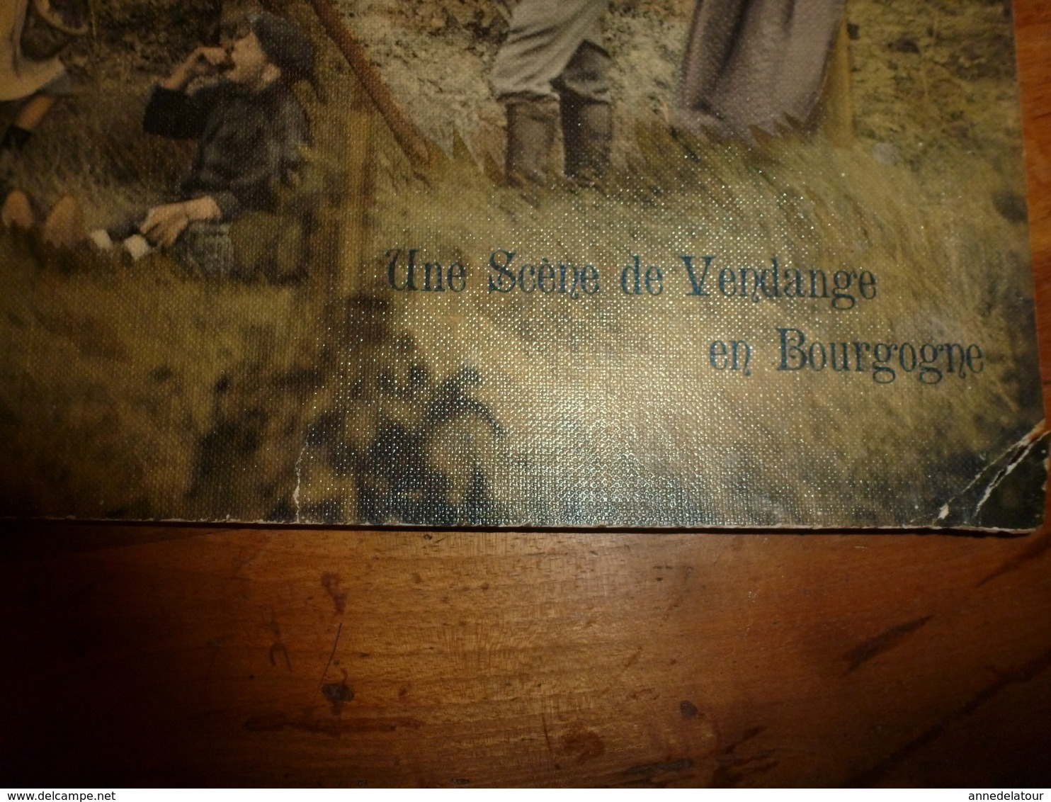 Anc. Carton Publicitaire Avec Calendrier Liqueurs Fines  MAISON BELIN à SEMUR (Côte D'Or)  Scène Vendange En Bourgogne - Plaques En Carton