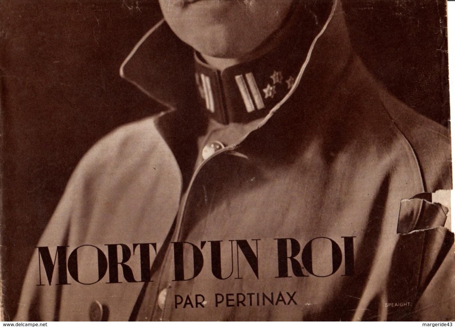 VOILA N°153  DU 24 FEVRIER 1933 - MORT D'UN ROI - CHAIRS D'OR - Journaux - Quotidiens