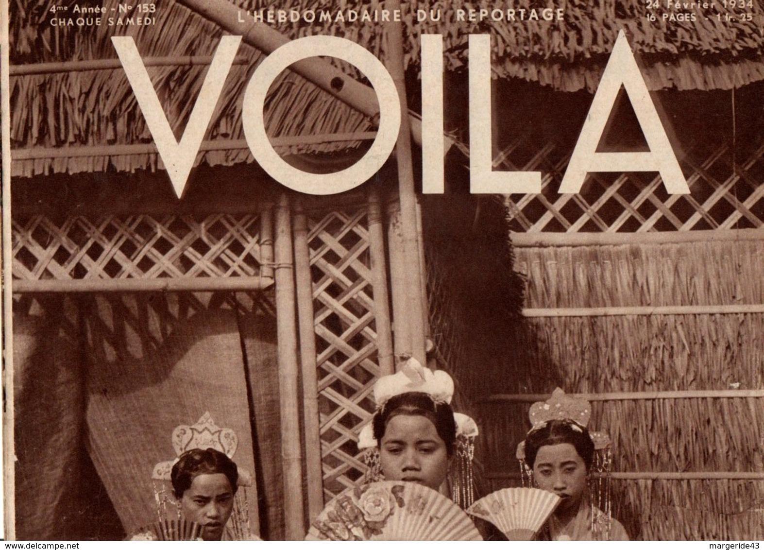 VOILA N°153  DU 24 FEVRIER 1933 - MORT D'UN ROI - CHAIRS D'OR - Zeitungen