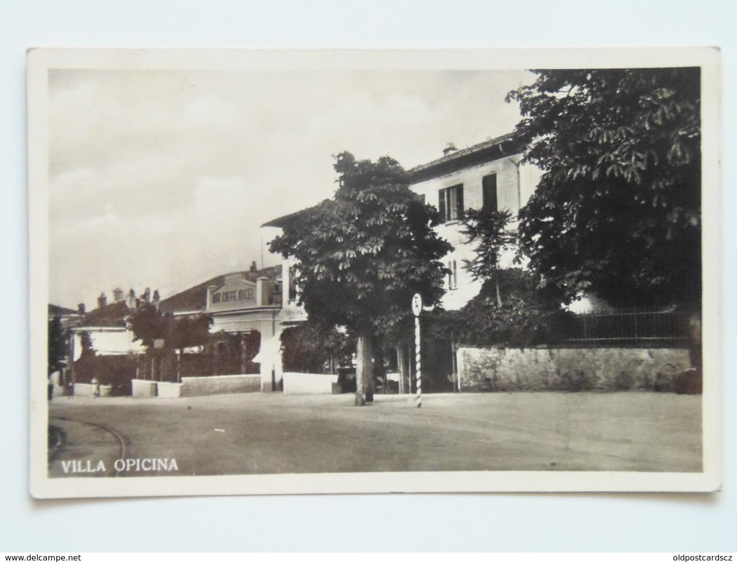Trieste 341 Villa Opcina Opicina 1935 Bar Caffe Micel - Autres Villes