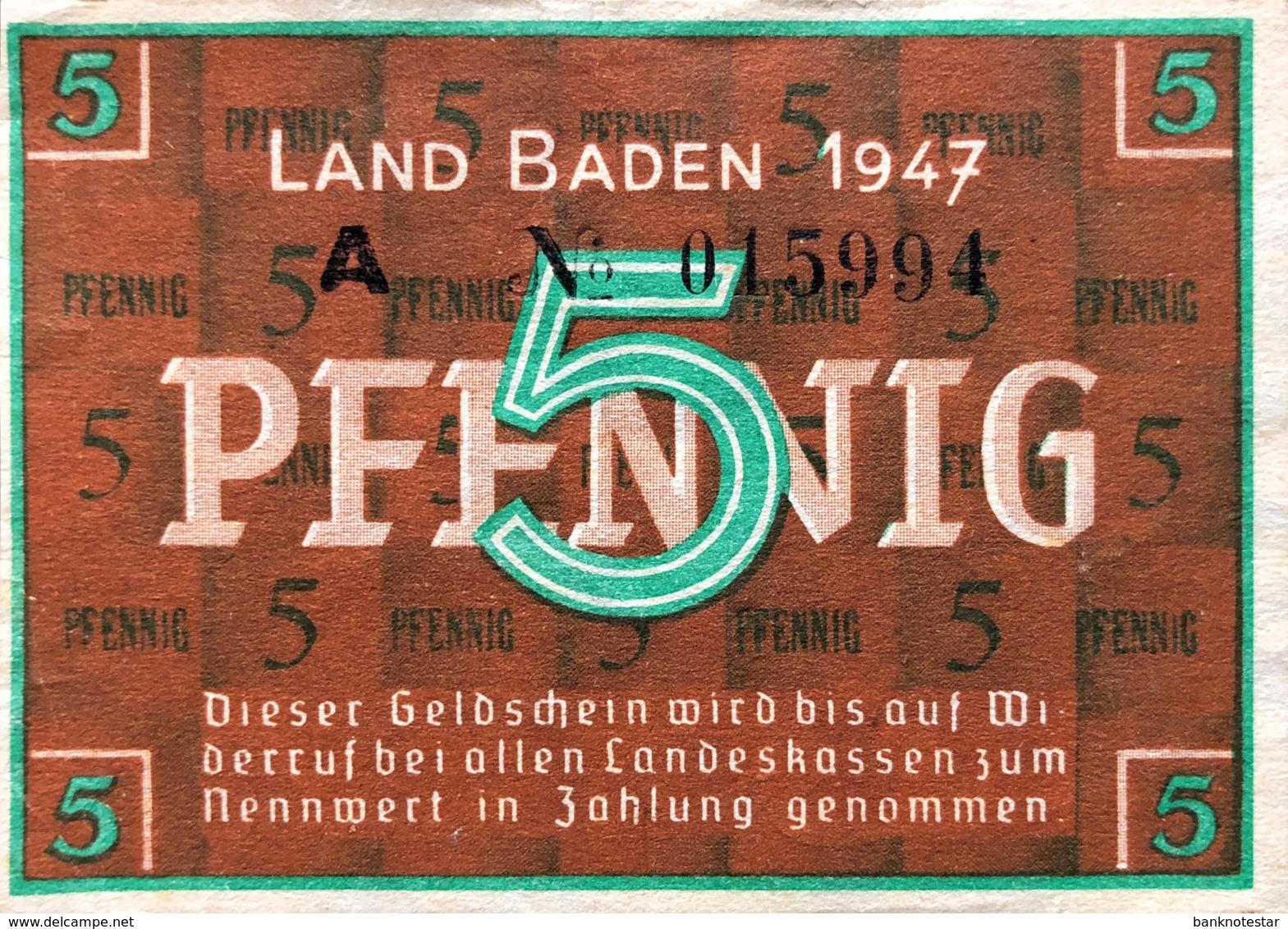 West Germany 5 Pfennig 1947 AU, Ro.208b/FBZ-1b - [ 5] 1945-1949 : Occupazione Degli Alleati