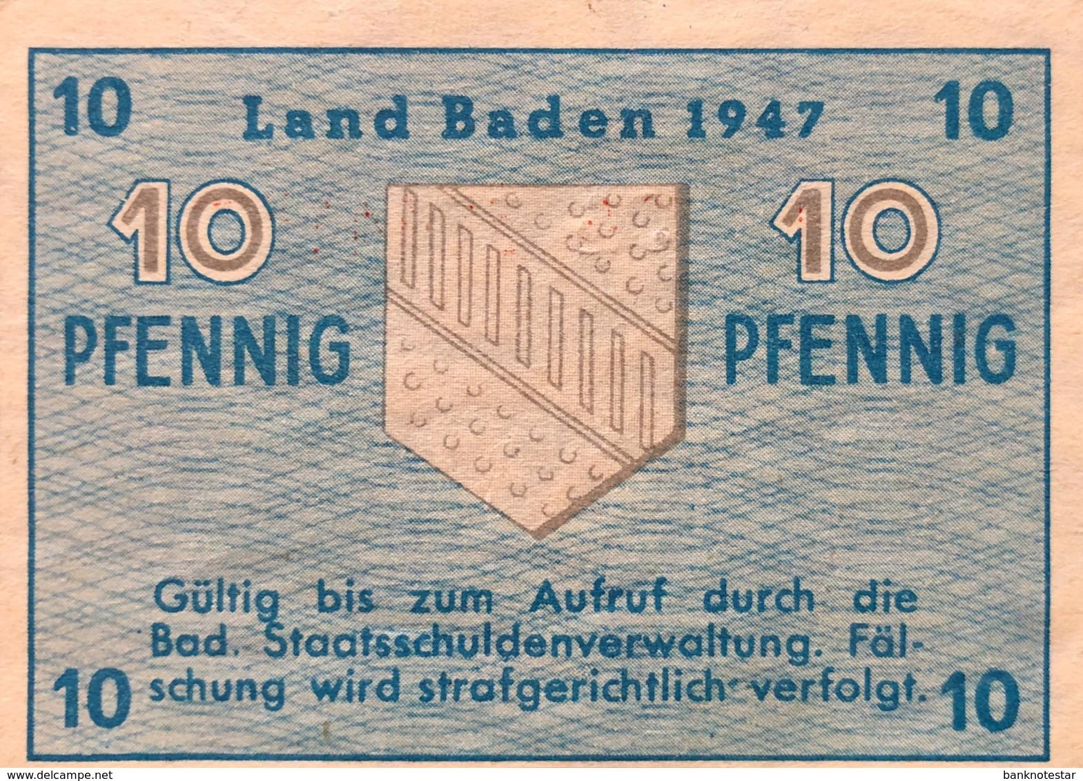 West Germany 10 Pfennig 1947 UNC, Ro.209d/FBZ-2d - [ 5] 1945-1949 : Occupazione Degli Alleati