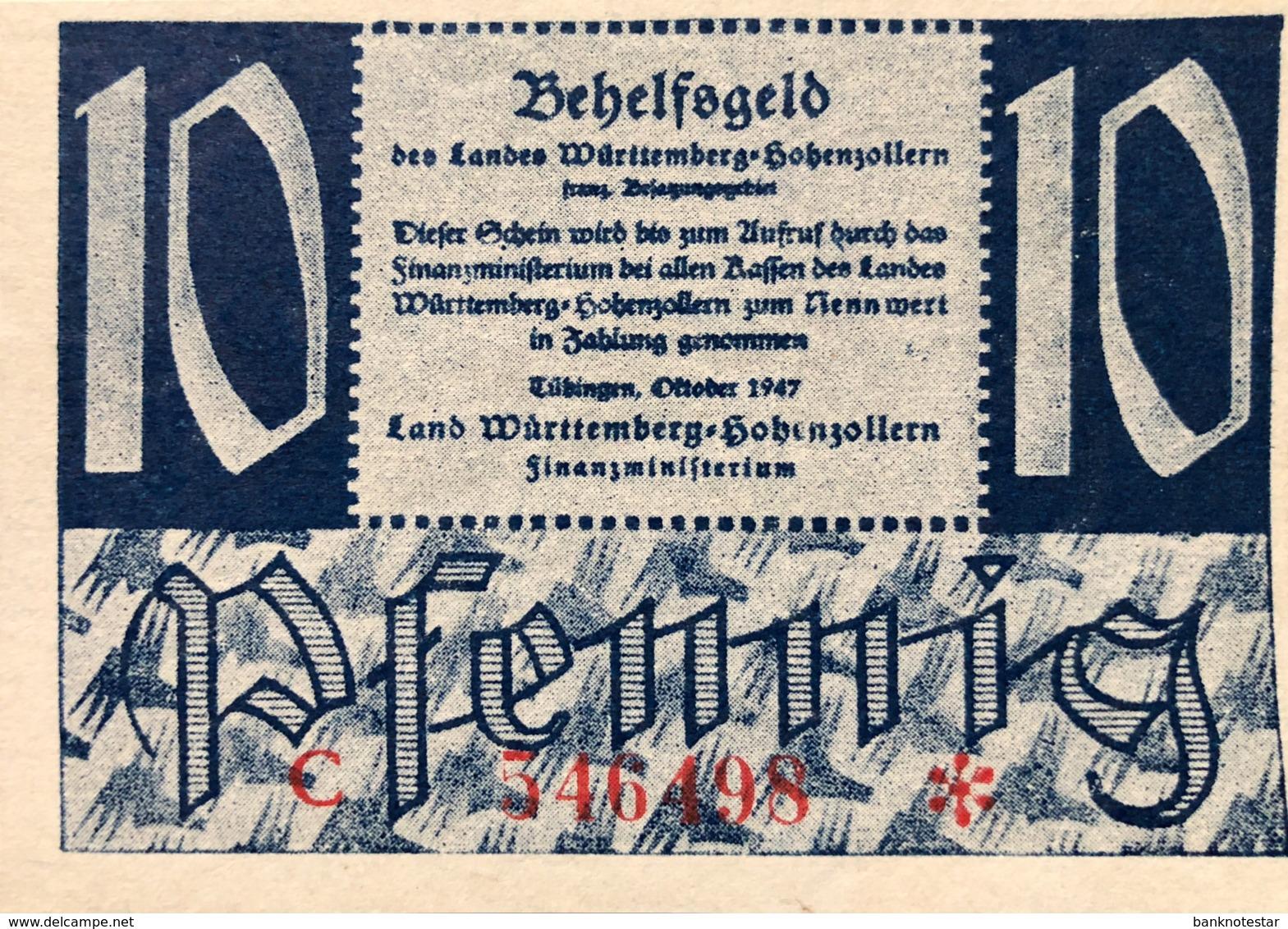 West Germany 10 Pfennig 1947 UNC, Ro.215b/FBZ-8b - [ 5] 1945-1949 : Occupazione Degli Alleati