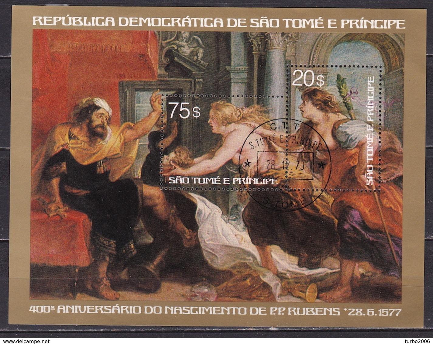 1979 Sao Tomé E Principe 400 Years P.P. Rubens Block With Stamps $ 20-75 - Sao Tome En Principe