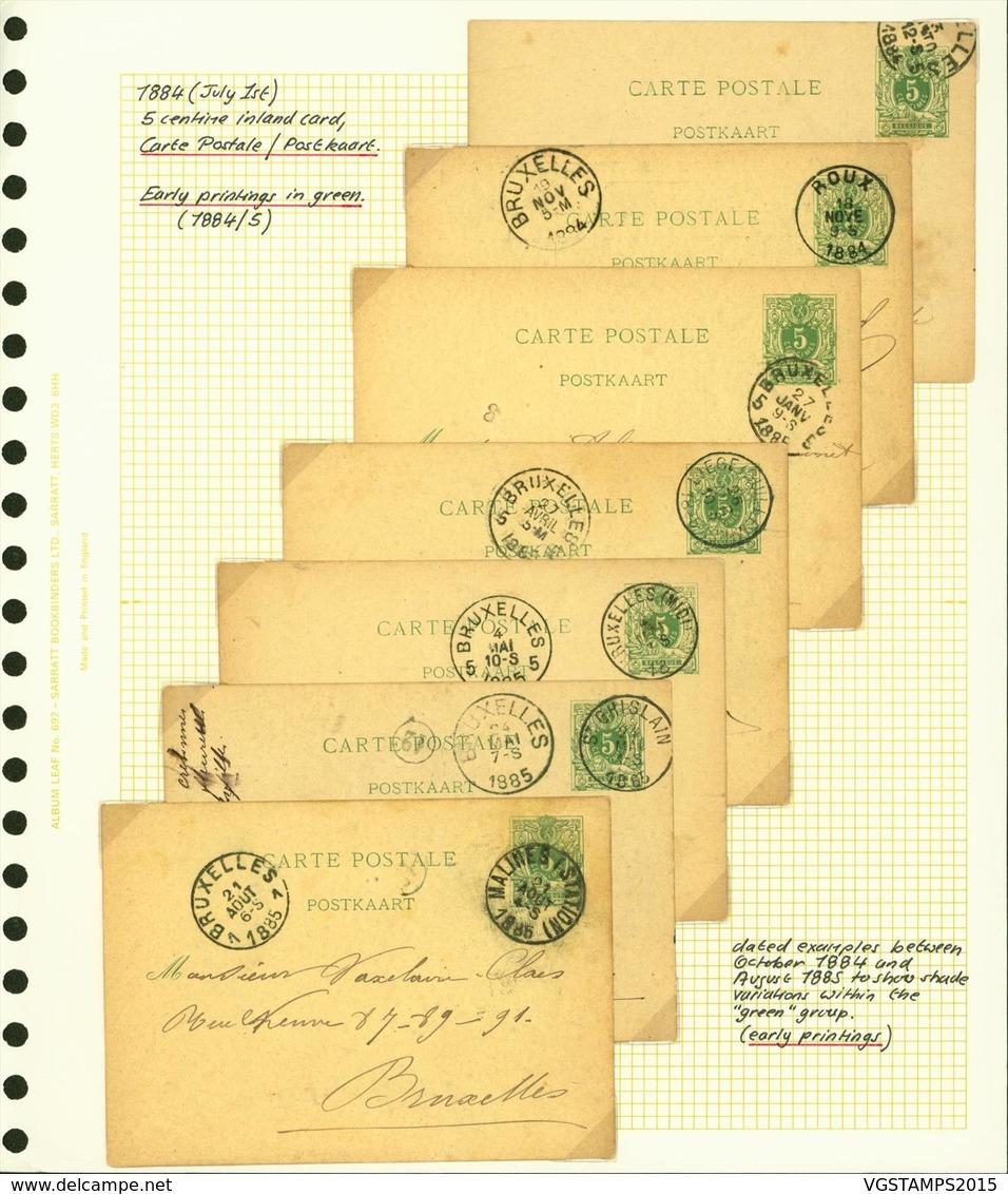 Belgique 1880 - Lot EP (6G23184) DC0668 - Stamped Stationery