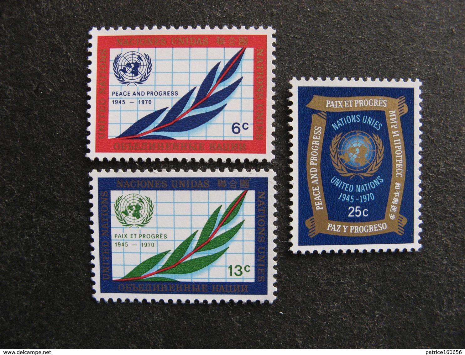 O.N.U. Siège De New-York: TB Série N° 203 Au N° 205, Neufs XX. - New York -  VN Hauptquartier