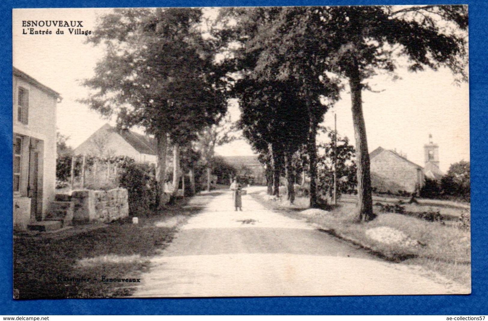 Esnouveaux  -  L Entrée Du Village - France