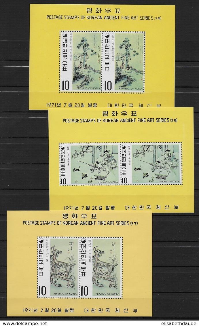 REPUBLIC OF KOREA - BLOC YVERT 213/215 ** MNH - COTE = 30 EUR. - Corée Du Sud