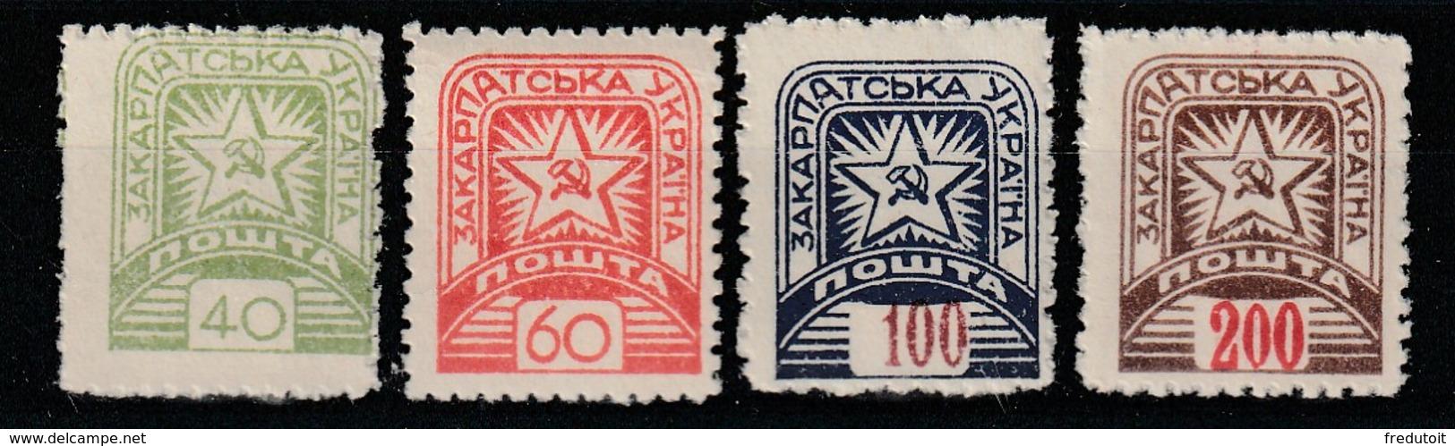 UKRAINE SUB-CARPATHIQUE - N°6/7/8/9 ** (1945) - Carpatho-Ukraine