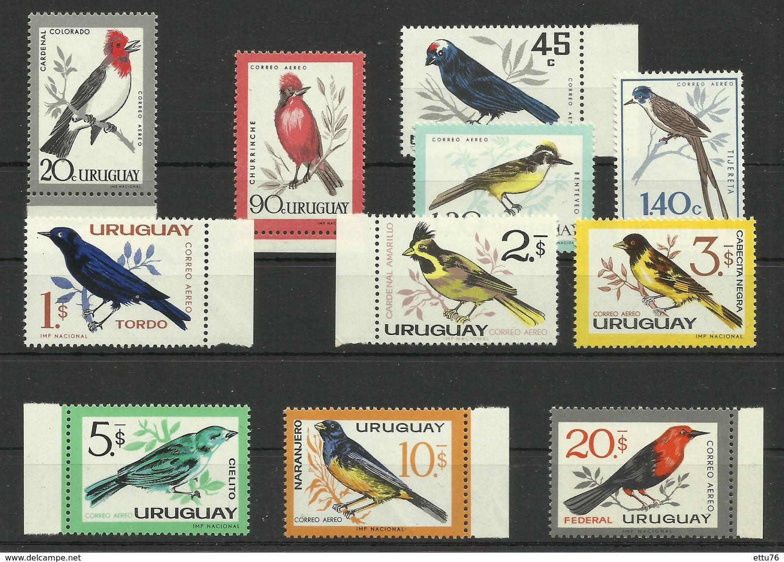 URUGUAY  1962/63  BIRDS  MNH - Pájaros