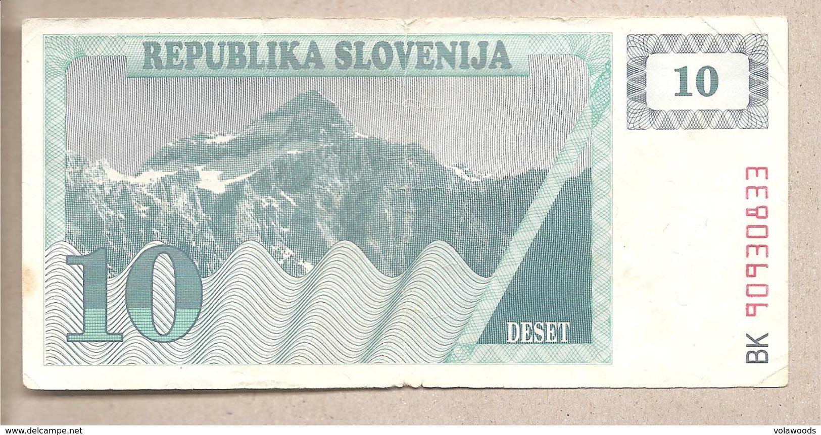 Slovenia - Banconota Circolata Da 10 Talleri - P-4a - 1990 - Slovénie