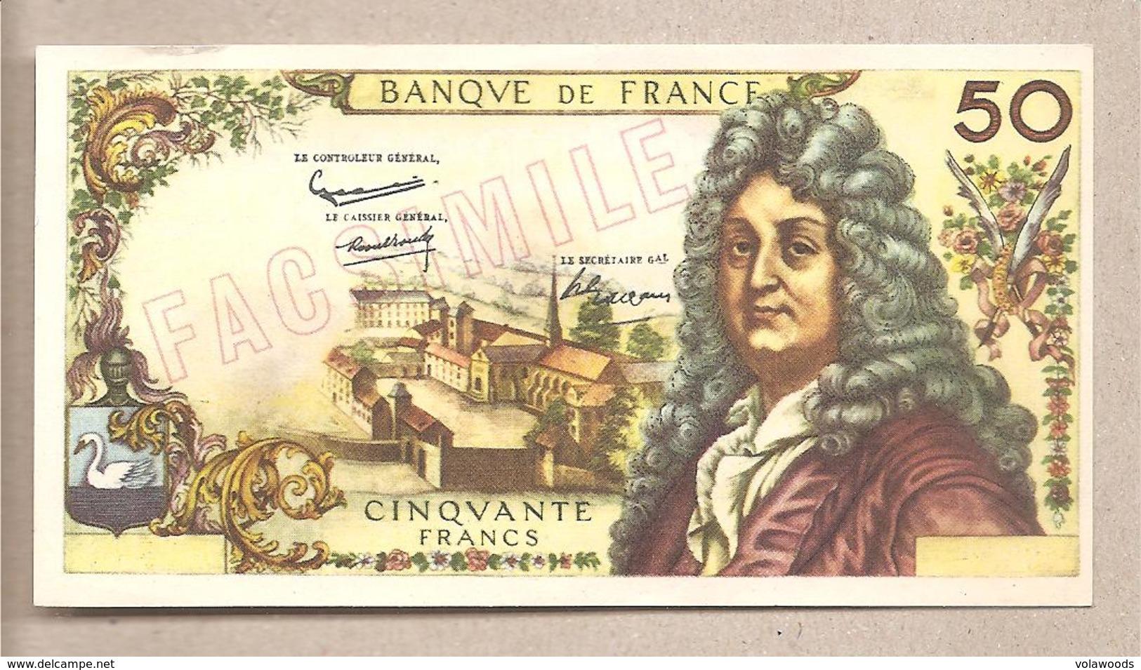 """Francia - Banconota Fax-simile Da 50 Franchi Serie: """"I Facsimili Di Tutto Il Mondo"""" - 1968 - Other"""