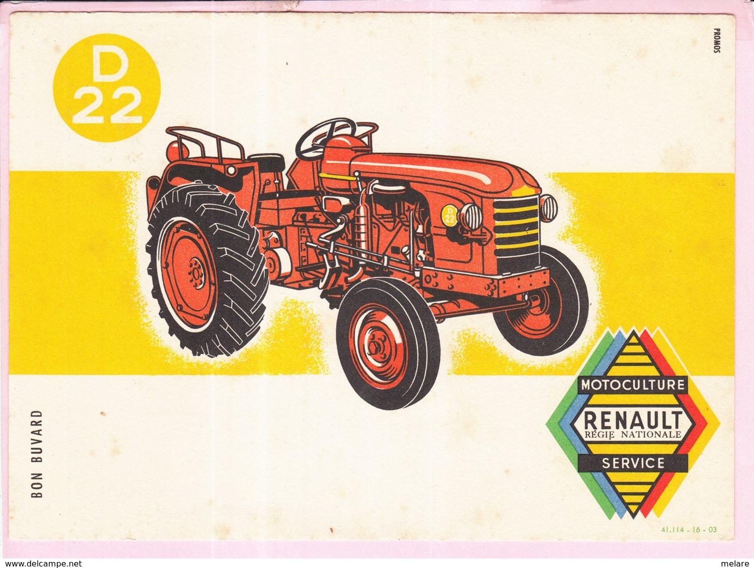 Buvard Tracteur RENAULT D22 - Agriculture