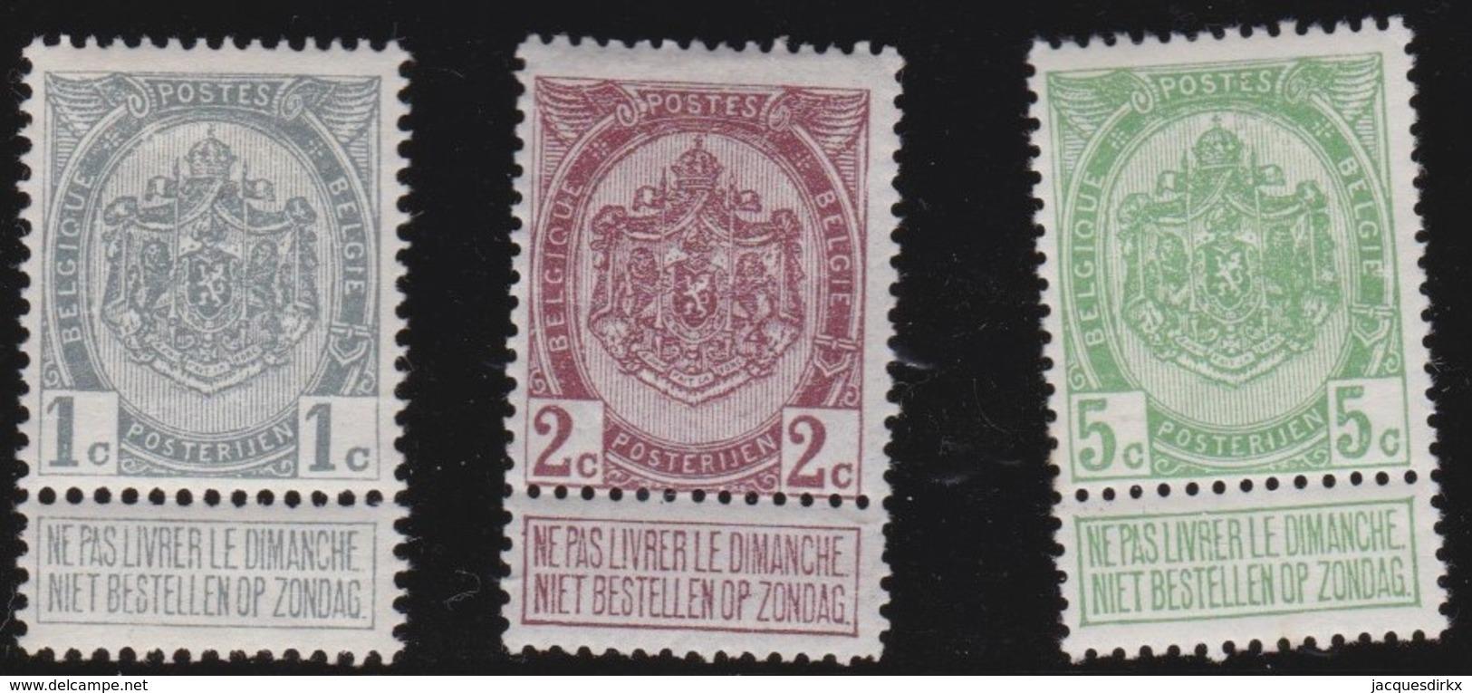 Belgie   .    OBP     .    81/83        .      *     .    Ongebruikt Met Charnier  .  /   .  Neuf Avec Charniere - 1894-1896 Exhibitions