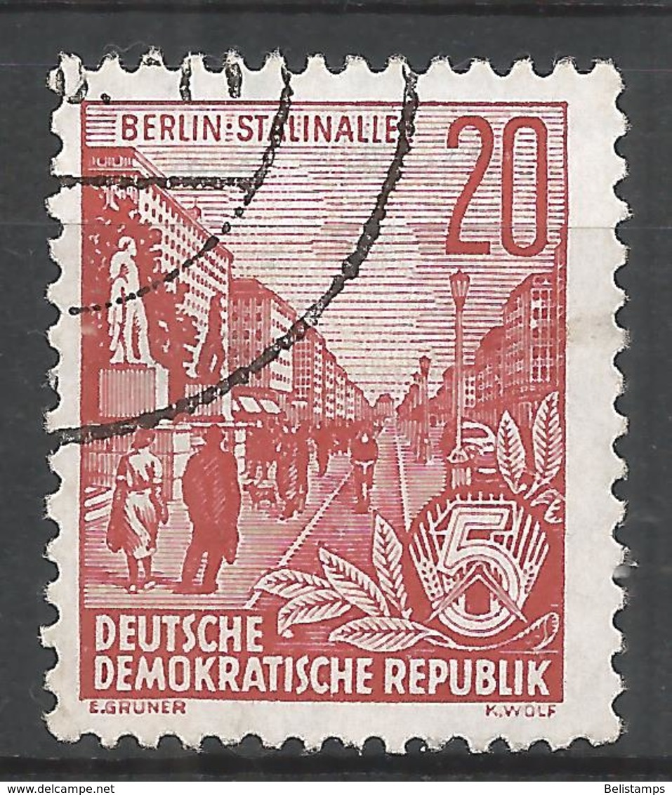 German Democratic Republic 1955. Scott #228 (U) Stalin Boulevard * - [6] Democratic Republic