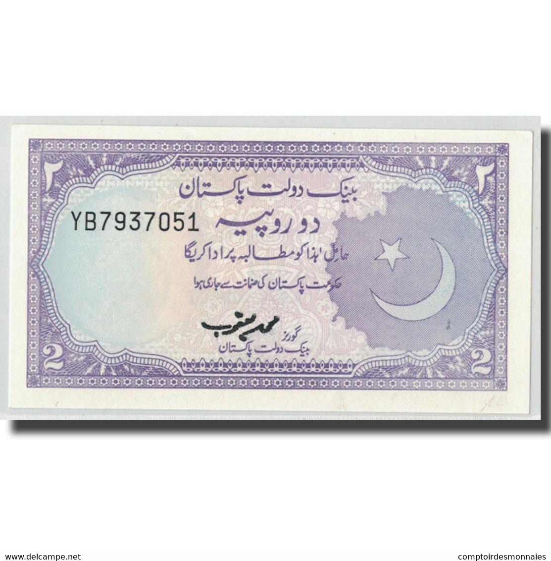 Billet, Pakistan, 2 Rupees, KM:37, NEUF - Pakistan