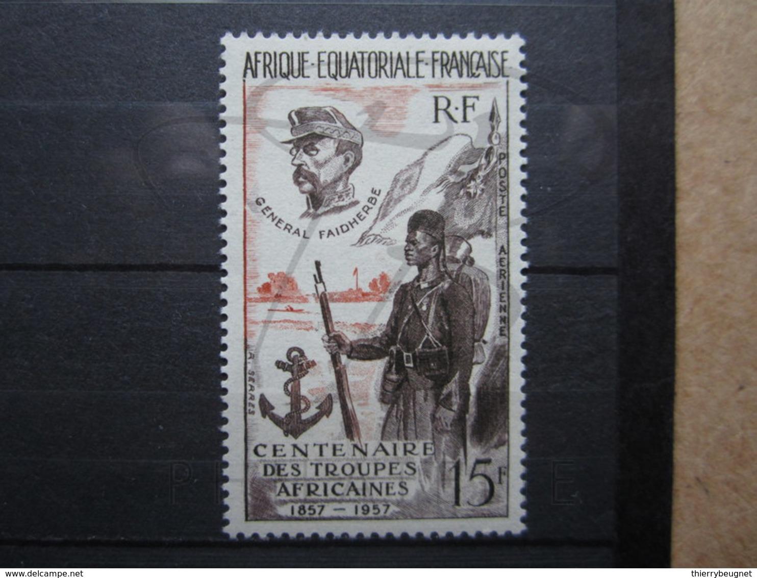 VEND BEAU TIMBRE DE POSTE AERIENNE D ' A.E.F. N° 62 , XX !!! - A.E.F. (1936-1958)