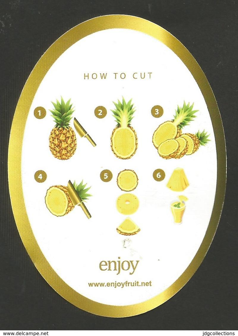 # PINEAPPLE ENJOY SWEET Fruit Tag Balise Etiqueta Anhanger Ananas Pina Costa Rica - Fruits & Vegetables