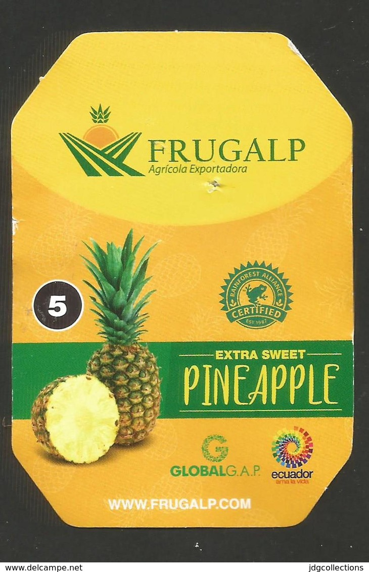 # PINEAPPLE FRUGALP Size 5 Fruit Tag Balise Etiqueta Anhanger Ananas Pina Ecuador - Fruits & Vegetables
