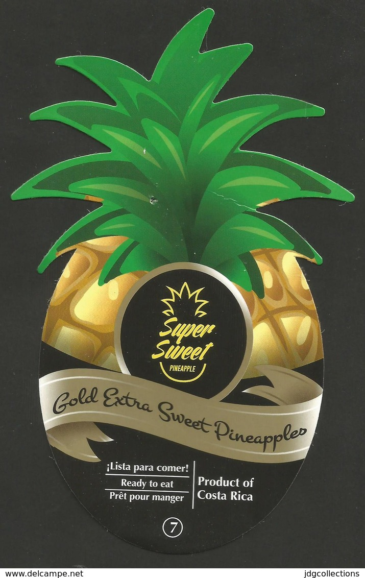 # PINEAPPLE TROPICALES DEL VALLE Super Sweet Fruit Tag Balise Etiqueta Anhanger Ananas Pina Costa Rica - Fruits & Vegetables