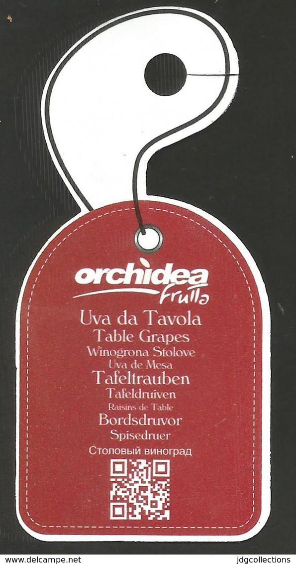 # UVA DA TAVOLA ORCHIDEA GRAPE Italy Fruit Tag Balise Etiqueta Anhänger Cartellino Raisin Uvas Traube - Fruits & Vegetables