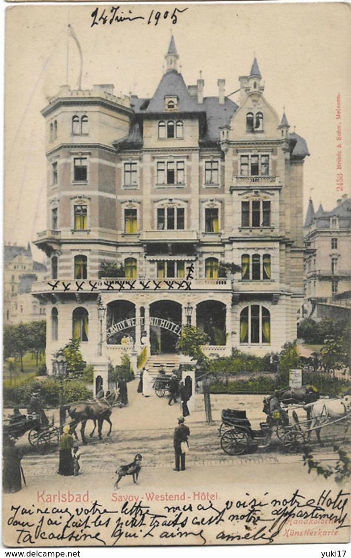 TCHEQUIE KARLSBAD SAVOY WESTEND HOTEL 2453 - Tchéquie