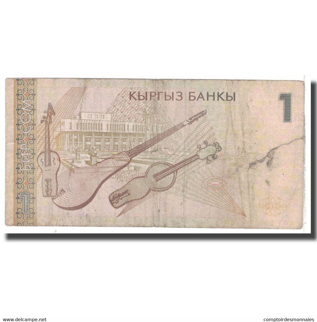 Billet, KYRGYZSTAN, 1 Som, 1999, KM:15, B - Kirghizistan