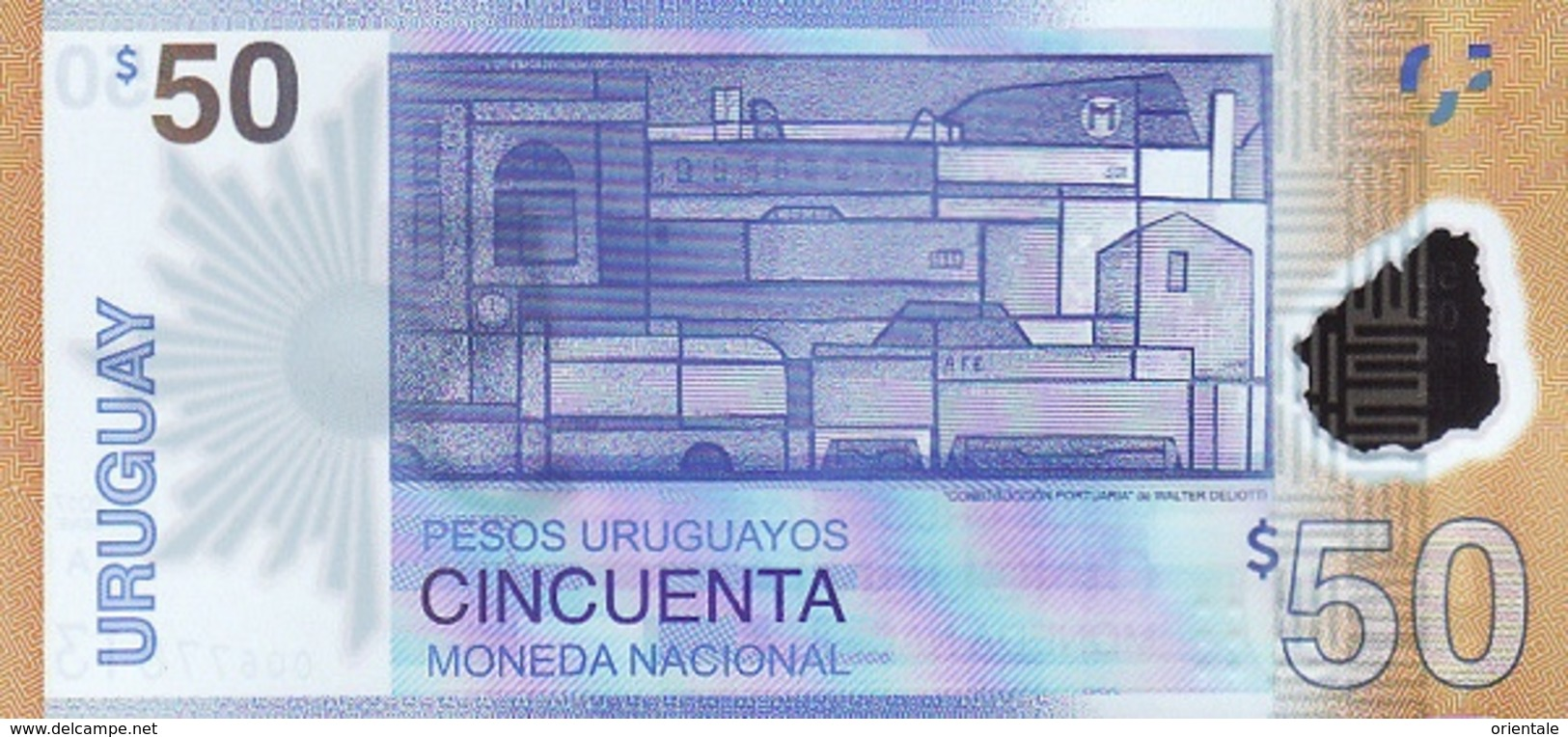 URUGUAY P. NEW 50 P 2017 UNC - Uruguay