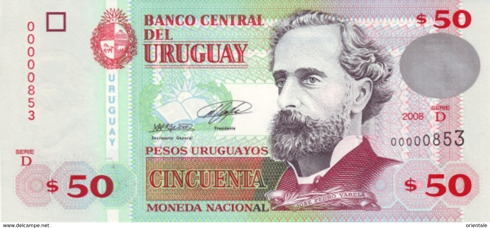 URUGUAY P. 87a 50 P 2008 UNC - Uruguay