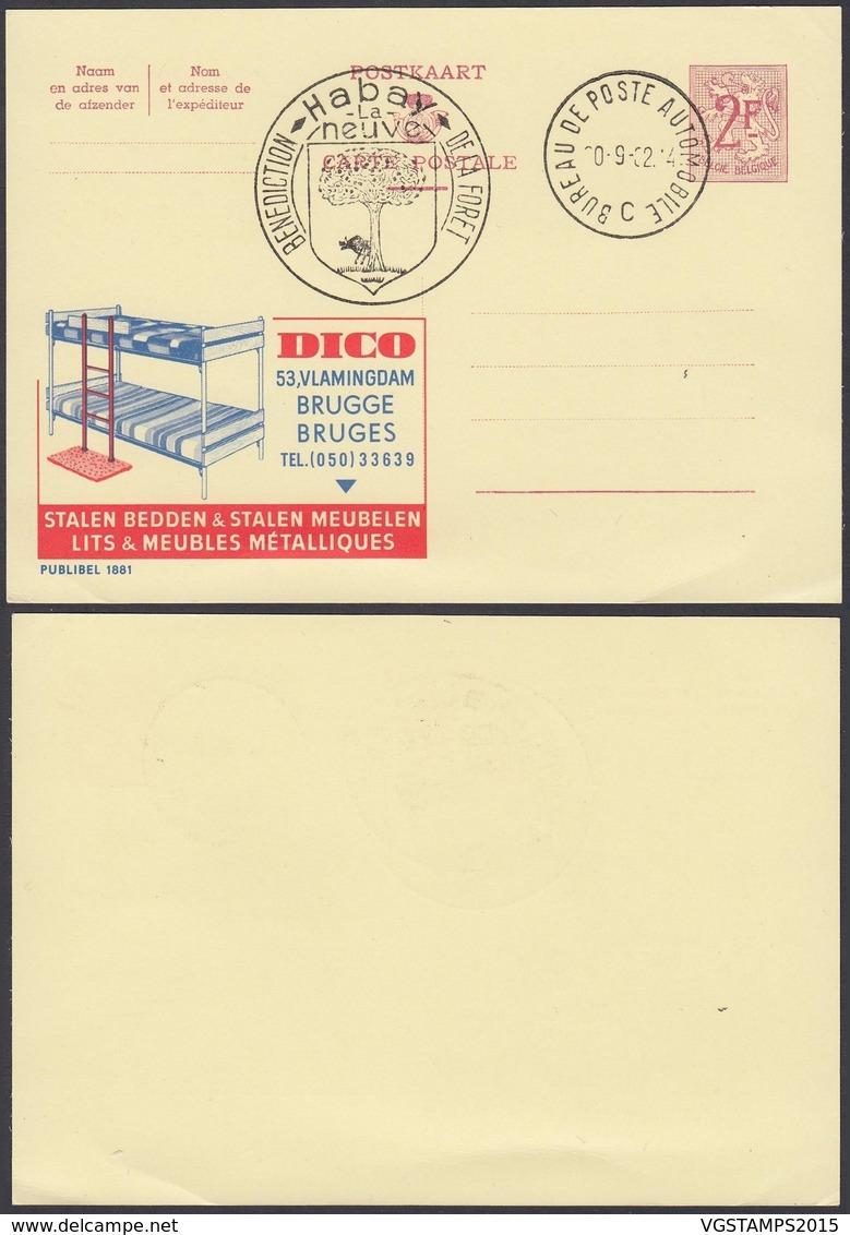Publibel 1881 - 2F - Thématique Mobilier, Literie (6G23184) DC0750 - Stamped Stationery
