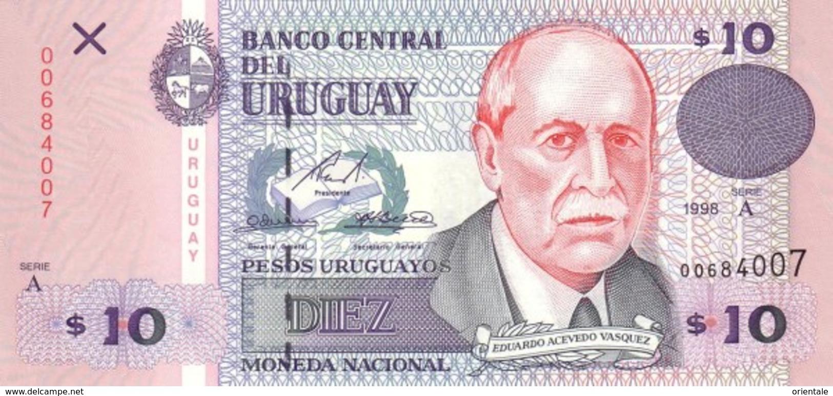 URUGUAY P. 81a 10 P 1998 UNC - Uruguay
