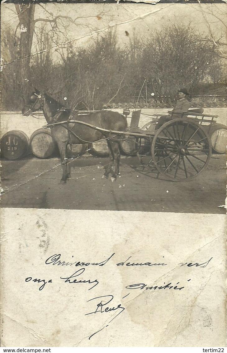 ( CARTE PHOTO )(ATTELAGE )( PHILATELIE)( ARCIS SUR AUBE )( 10 AUBE ) 1903 - Métiers